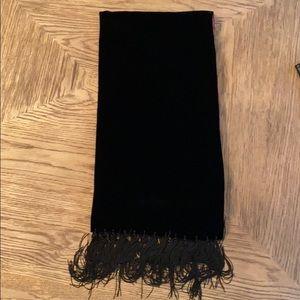 Black Velvet Fringe Scarf